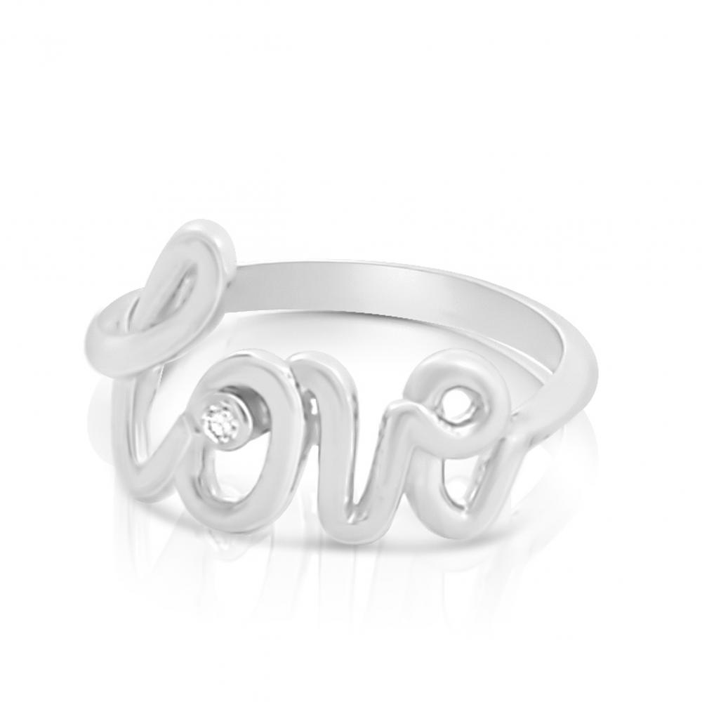 925 Sterling Silver Ring 2mm 0 03 Ct