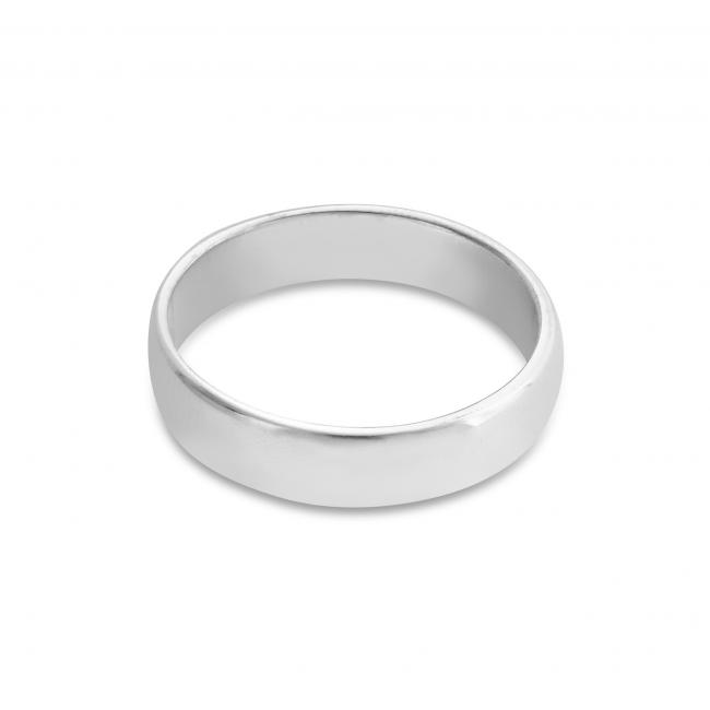 925 sterling silver ring Wedding Band 4mm
