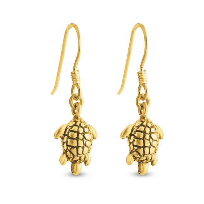 Gold plated earrings Tortoise
