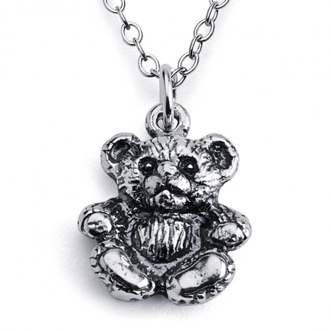 925 sterling silver necklace Cute Teddy Bear Toy