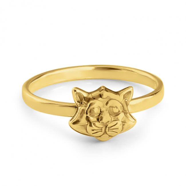 Gold plated ring Cat