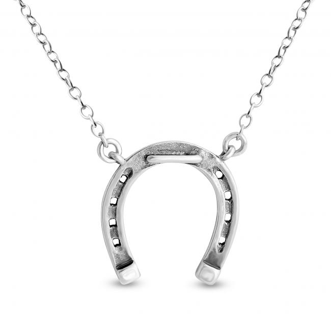 925 sterling silver necklace Horseshoe
