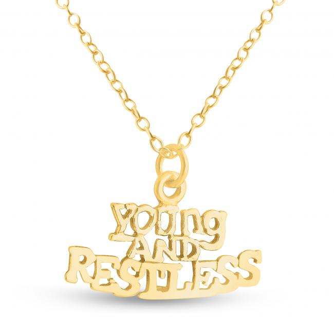 Gold plated necklace Young and Restless Statement