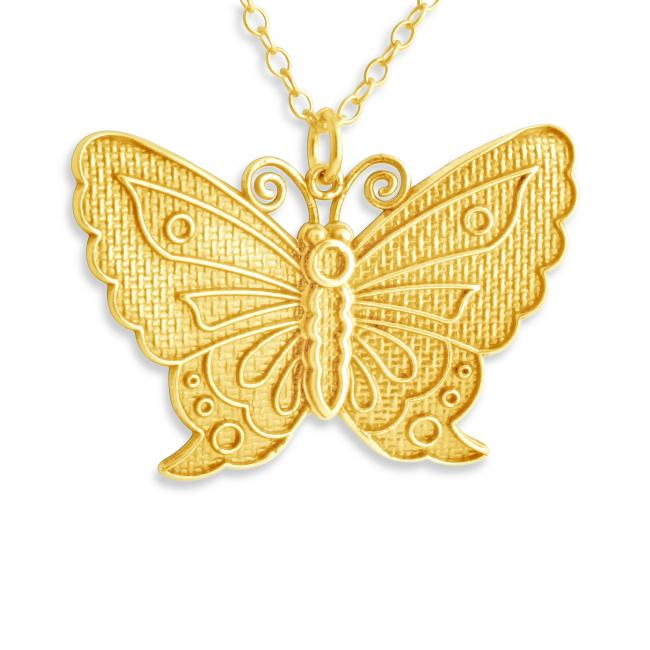 Gold plated necklace Butterfly