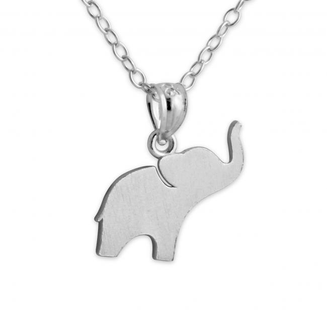925 sterling silver necklace Elephant (Silhouette)
