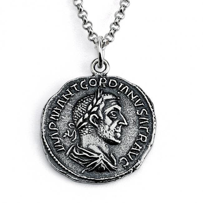 925 sterling silver necklace Replica Gordian Roman Emperor Ancient COIN
