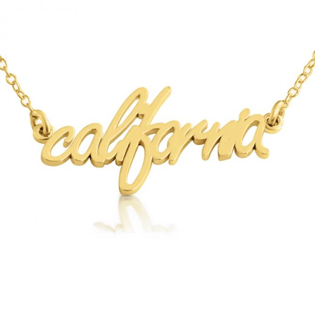 Gold plated necklace California State
