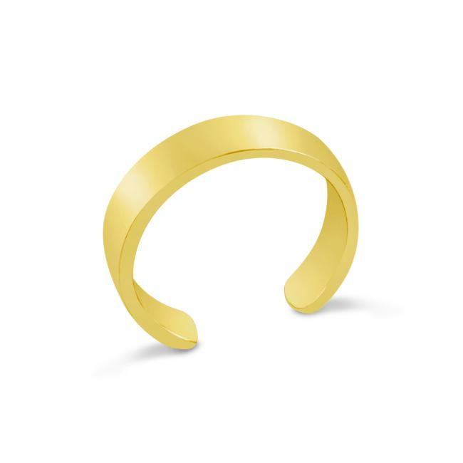 Gold plated ring Plain Straight Adjustable Toe Ring