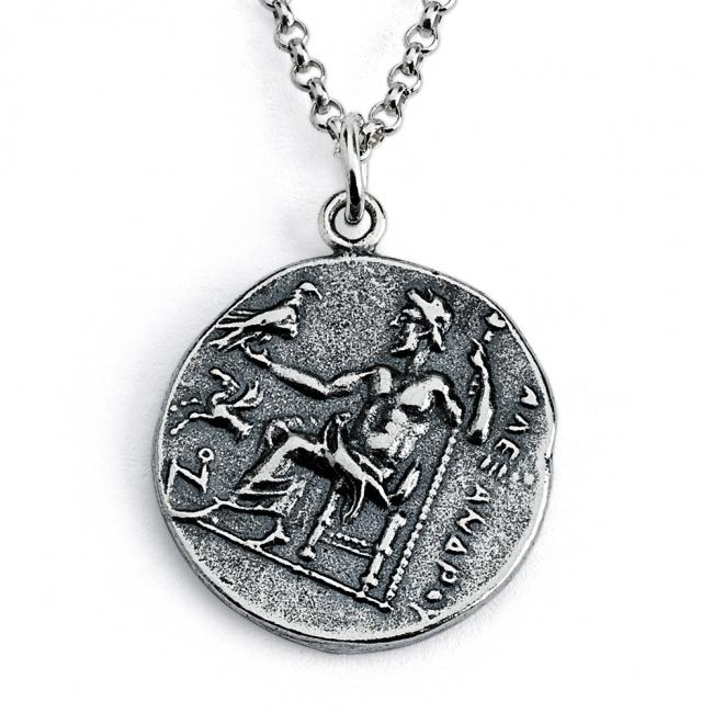 925 sterling silver necklace Replica Alexander III of Macedon Anceint COIN