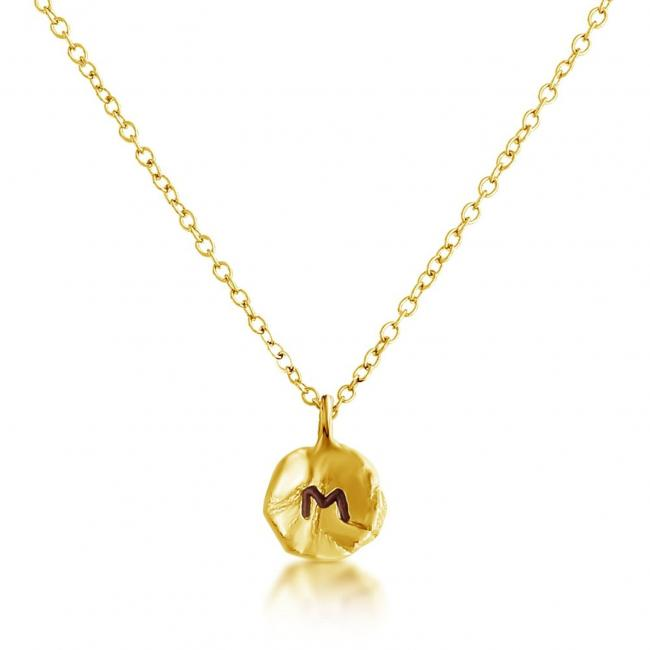 Gold plated necklace Letter M Passion Initial
