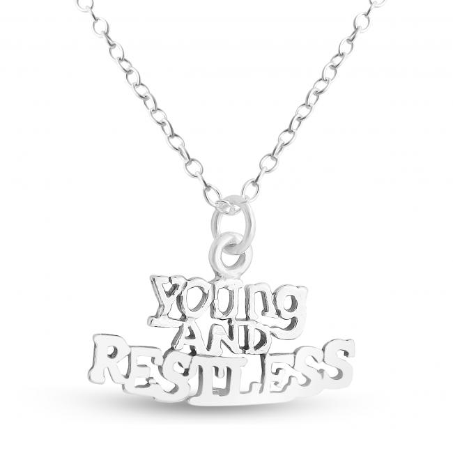 925 sterling silver necklace Young and Restless Statement