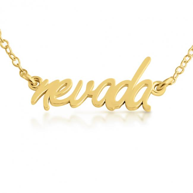 Gold plated necklace Nevada State