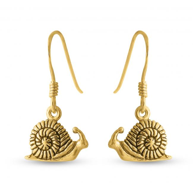 Gold plated earrings Snail
