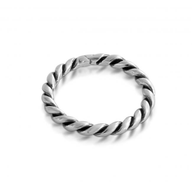925 sterling silver ring Braided Ring