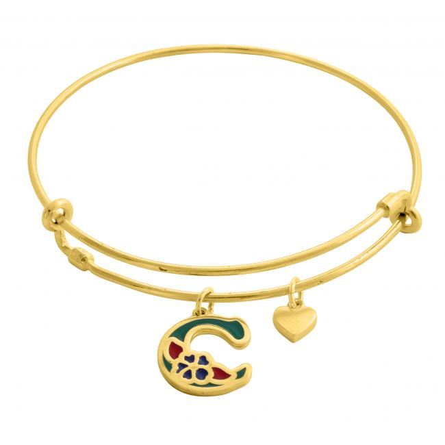 Gold plated bracelet All About You Adjustable Wire Bangle