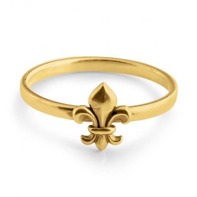 Gold plated ring Fleur de Lis