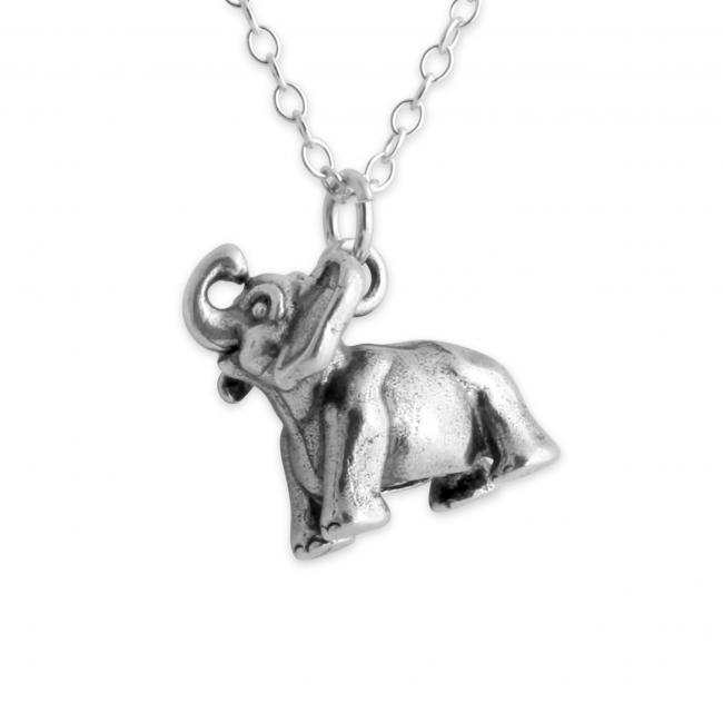 925 sterling silver necklace Happy Dumbo Elephant