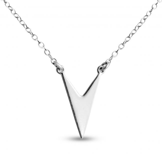 925 sterling silver necklace Solid Chevron