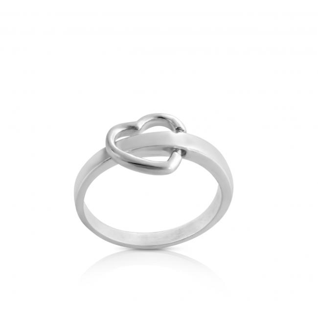 925 sterling silver ring Flipping Heart