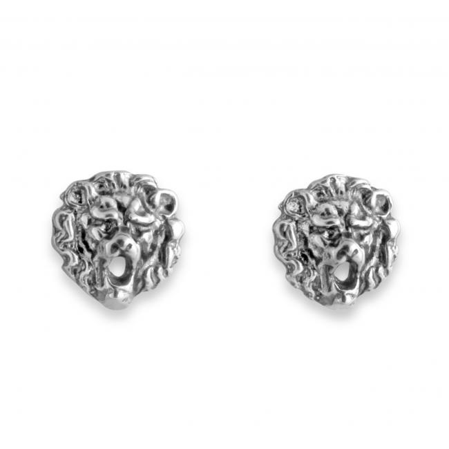 925 sterling silver earrings Roaring Lion