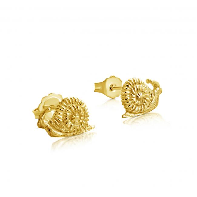 Gold plated earrings Snails