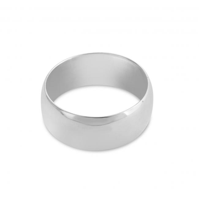 925 sterling silver ring Wedding Band 8mm