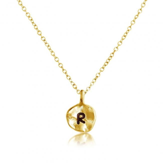 Gold plated necklace Letter R Passion Initial