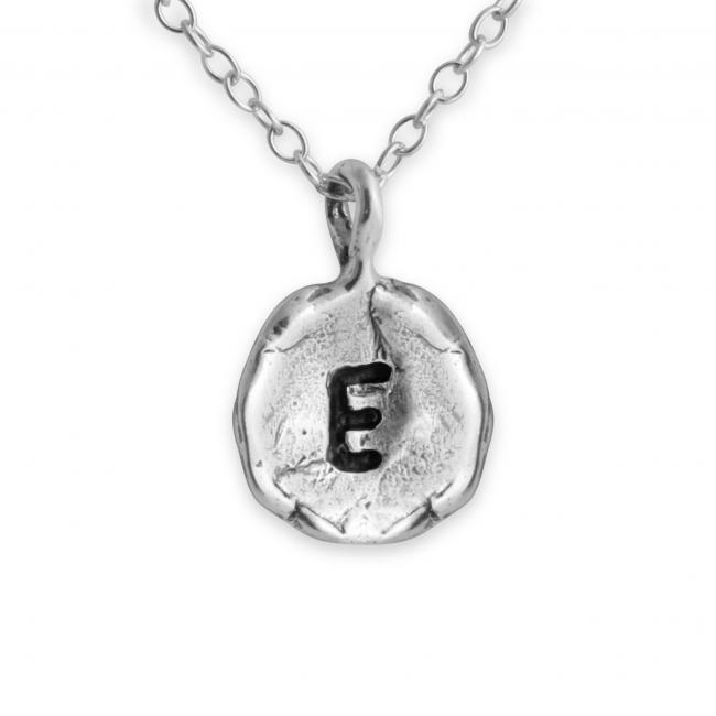 925 sterling silver necklace Letter E Passion Initial