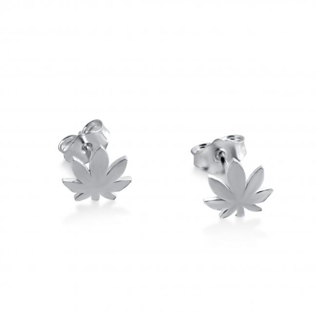 925 sterling silver earrings Canabis