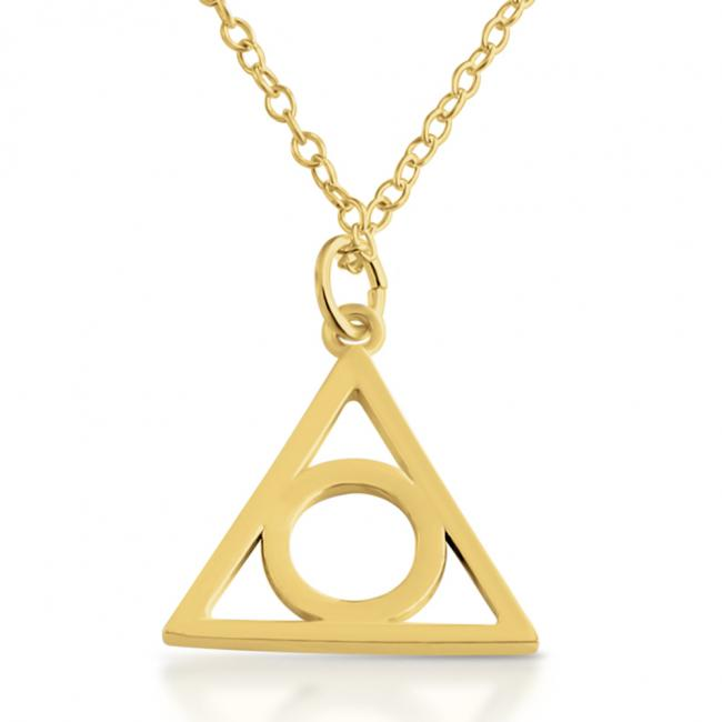 Gold plated necklace <strong>Illuminati</strong>