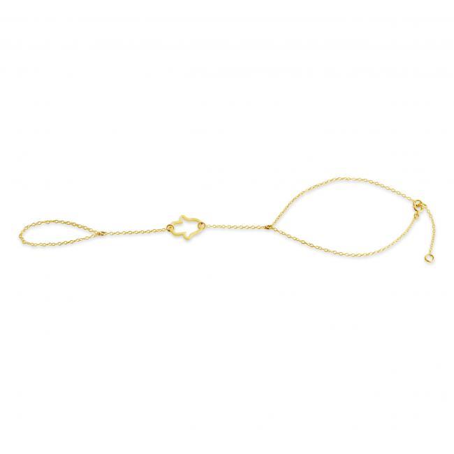 Gold plated bracelet Hamsa Hand Slave