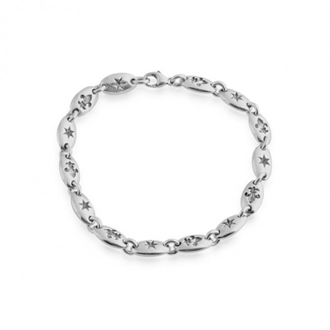 925 sterling silver bracelet Star and Fler de Lis Chain