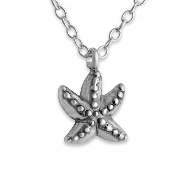 925 sterling silver necklace Starfish Double Sided Sea Star