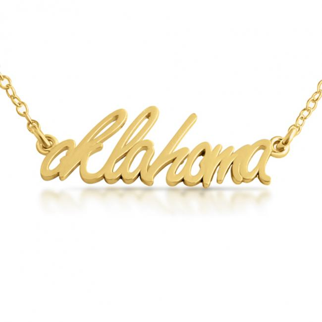 Gold plated necklace Oklahoma State