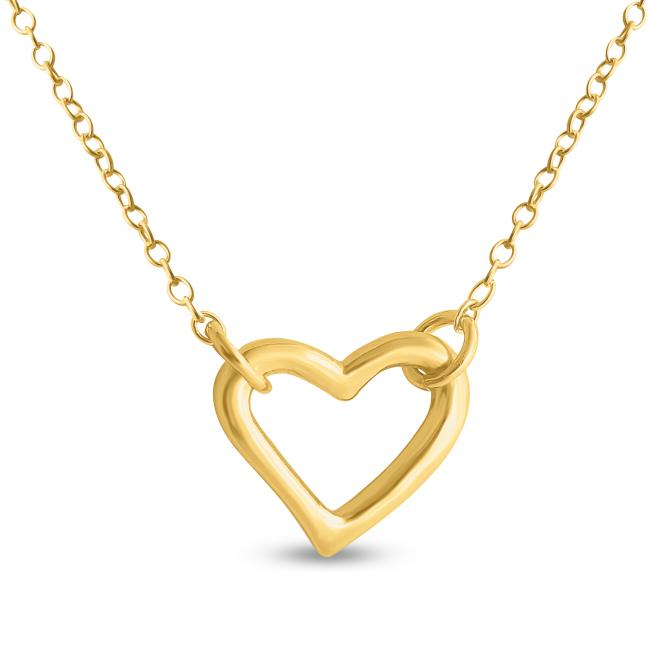 Gold plated necklace Small Open Heart
