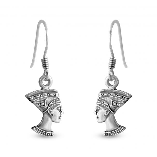 925 sterling silver earrings Nefertiti Egyptian Queen