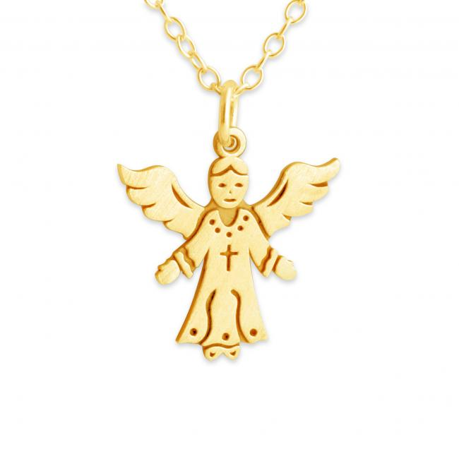 Gold plated necklace Angel
