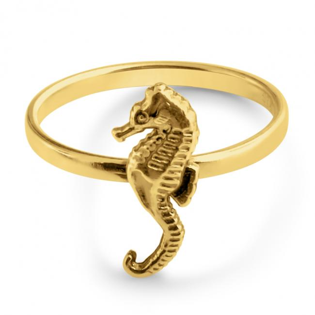 Gold plated ring Seahorse