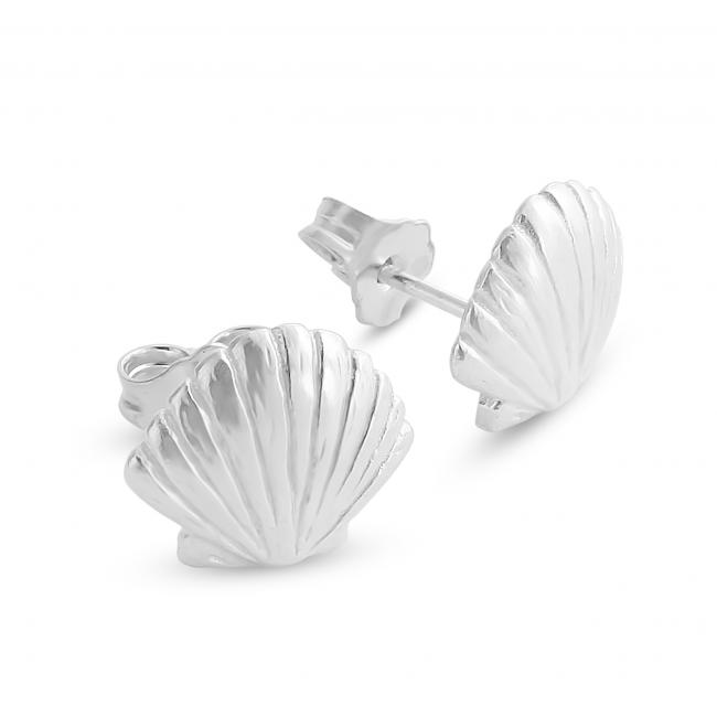 925 sterling silver earrings Cute Seashell