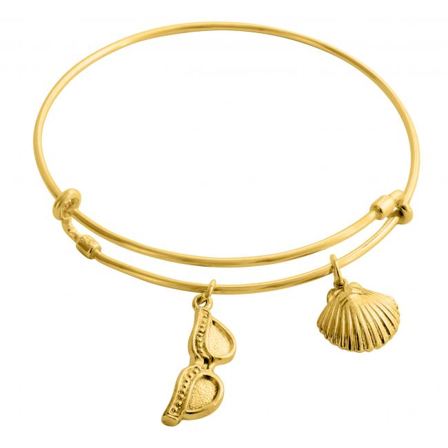 Gold plated bracelet Summer Essentials Adjustable Wire Bangle