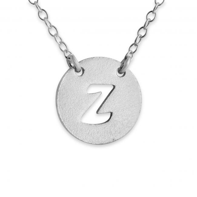 925 sterling silver necklace Z Open Letter