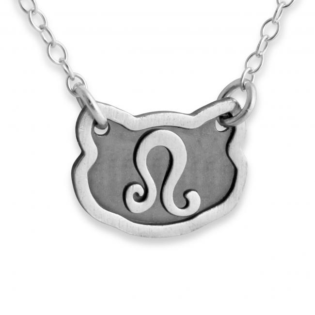 925 sterling silver necklace Leo Zodiac Sign
