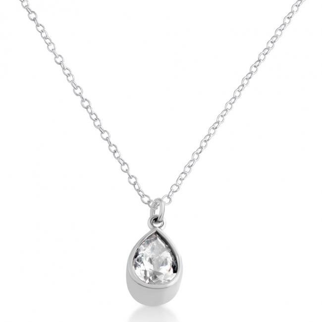 925 sterling silver necklace Cubic Zirconia Tear Drop