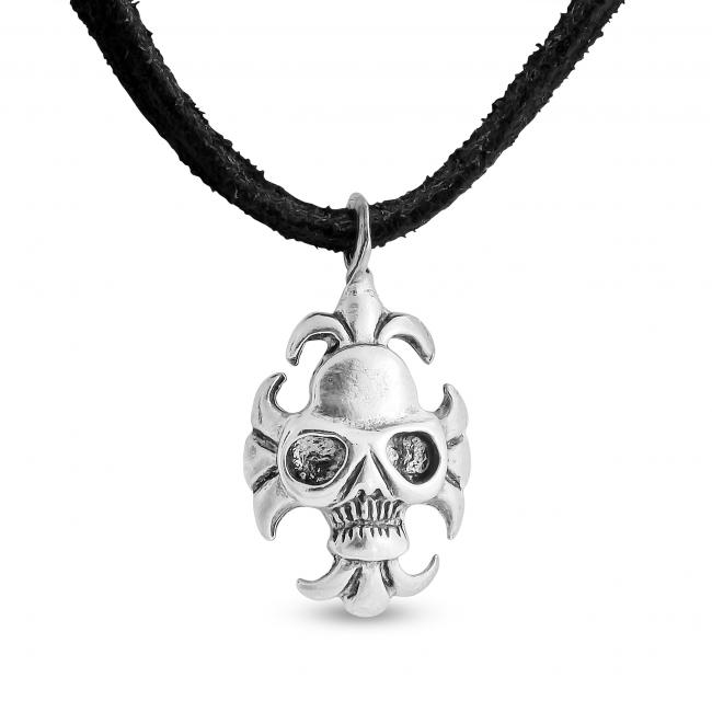 925 sterling silver necklace Skull with Motor Glasses