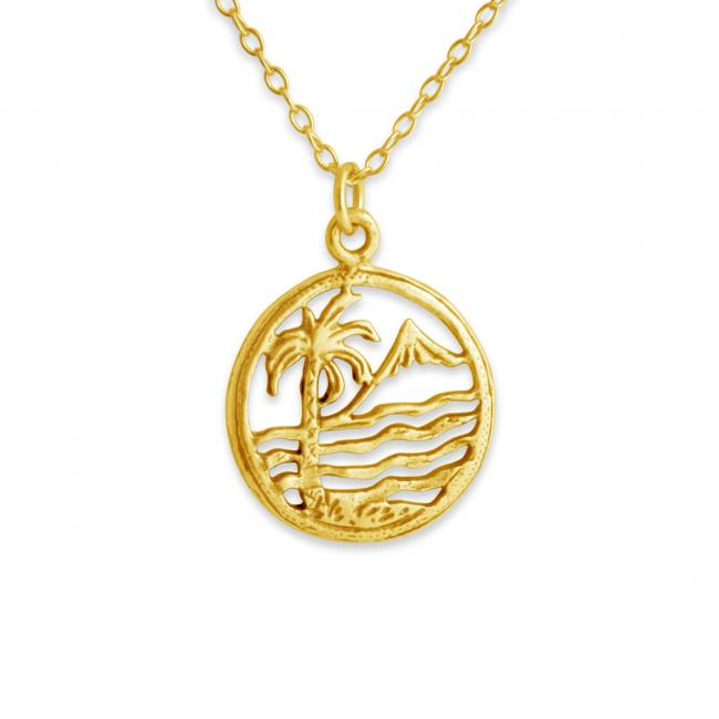 Gold plated necklace Hawaiian Beach