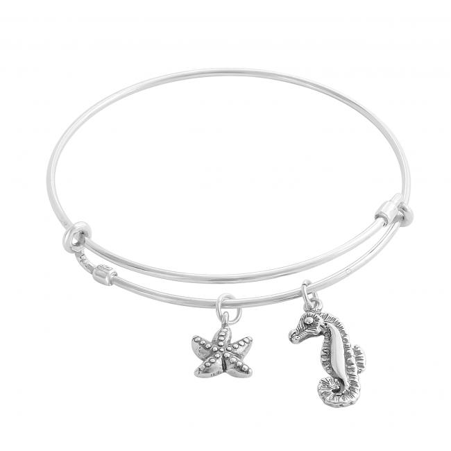 925 sterling silver bracelet Scuba Dive World Adjustable Wire Bangle