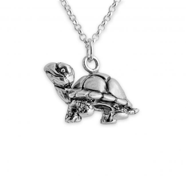 925 sterling silver necklace Walking Tortoise Turtle