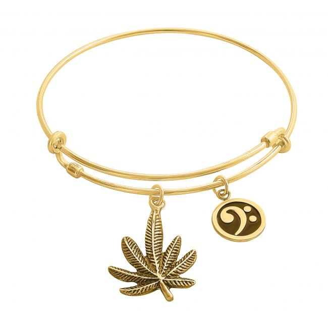 Gold plated bracelet Mary Jane Adjustable Wire Bangle