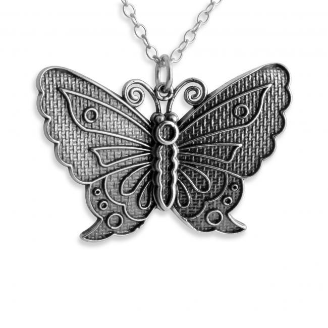 925 sterling silver necklace Butterfly