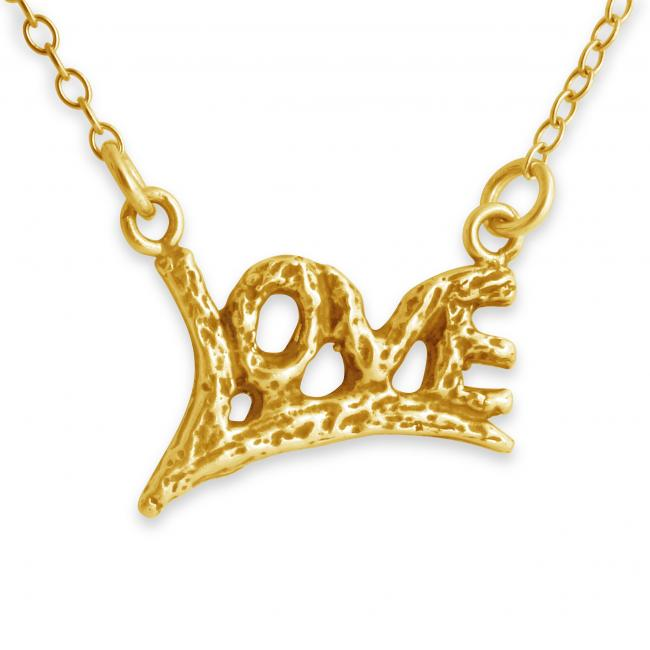 Gold plated necklace LOVE